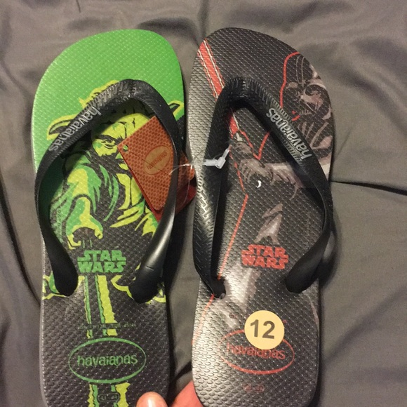 e05798053f418 Star Wars Havaianas Flip Flop Sandals men s 11 12